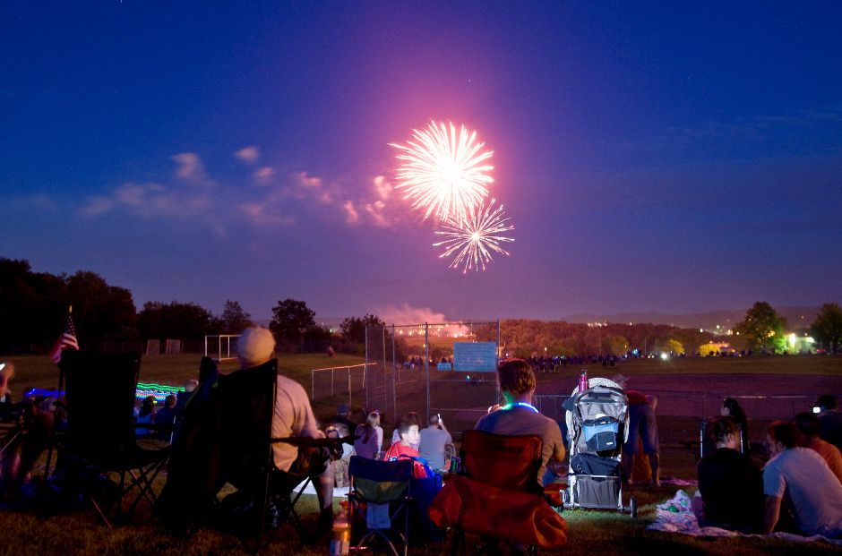 The Wallingford 350th Jubilee Committee is looking for a site to launch fireworks, like those pictured at Sheehan High School on July 2, 2011, for next year's celebration. | Sarah Nathan/Record-Journal