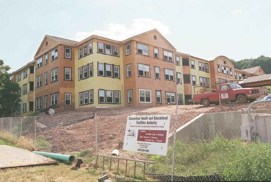 RJ file photo - A view of the Norman Johnson Apartments at the Masonic Healthcare Center off Hall Avenue under construction, Aug. 1998.