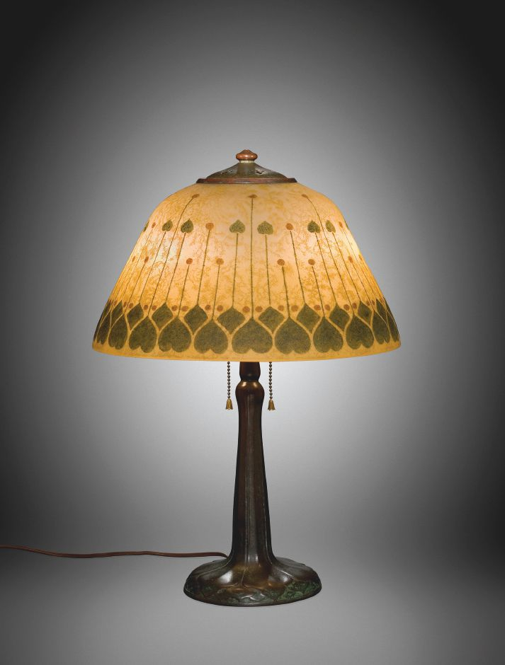 Lamp, Handel Company, Meriden, CT, 1910-1925. Gift of Anna and Karl Koepke. 2009.4.246. Image courtesy of The Corning Museum of Glass.