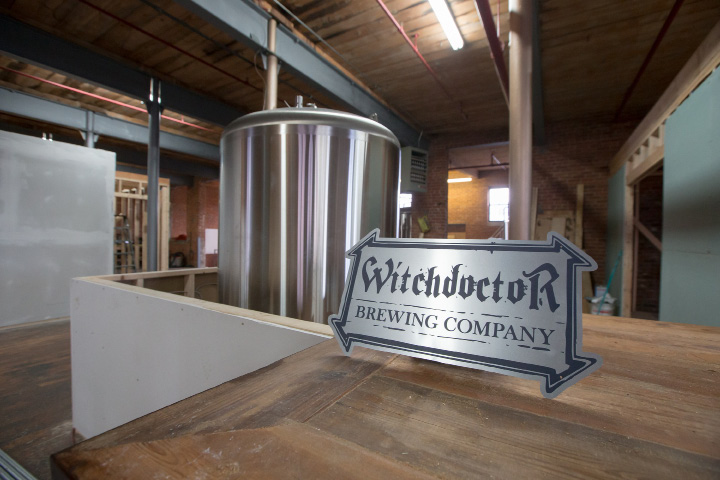 A tank sits in the bar area Wednesday, Dec. 28, 2016 at Witchdoctor Brewing Company in Southington The company expects to be brewing beer by the end of January. | Justin Weekes / For the Record-Journal