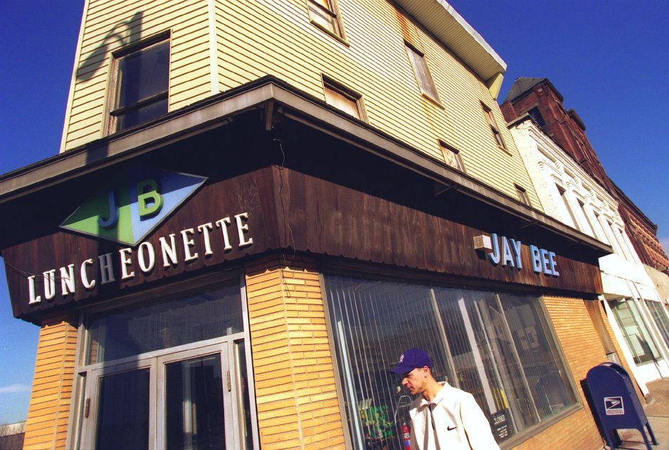 Jay Bee Luncheonette On The Corner Of Pratt Street And East Main Is