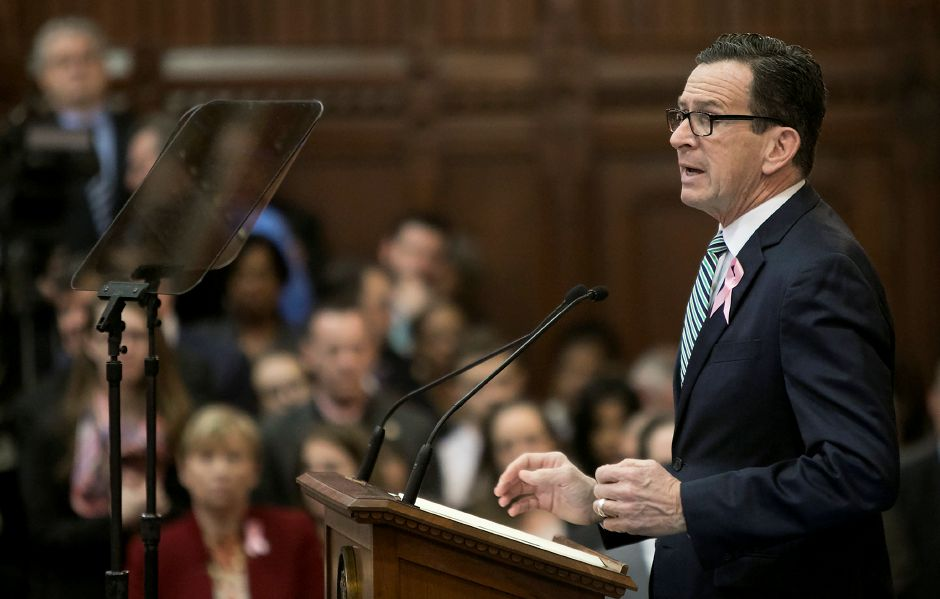Gov. Dannel P. Malloy speaks during opening day of the 2018 legislative session in Hartford, Wednesday, Feb. 7, 2018. Dave Zajac, Record-Journal