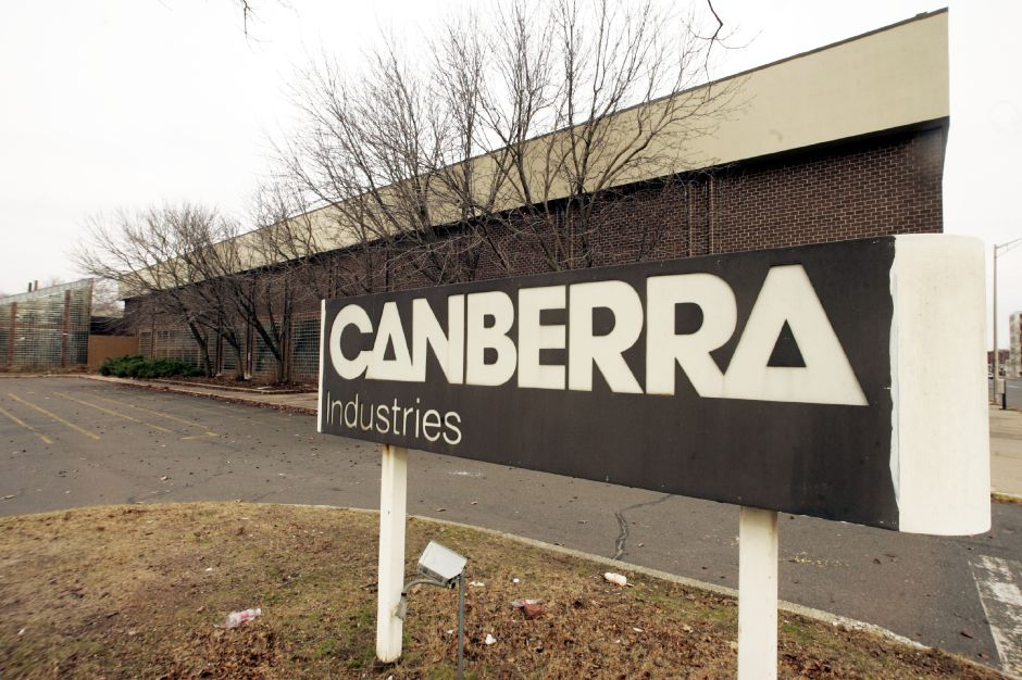 The former Canberra Industries at the HUB Wed., Dec. 6. Demolition has started on the inside of the building with the exterior to begin in 6-8-weeks, according to the supervisor for J.R. Contracting of Wayne, N.J.
