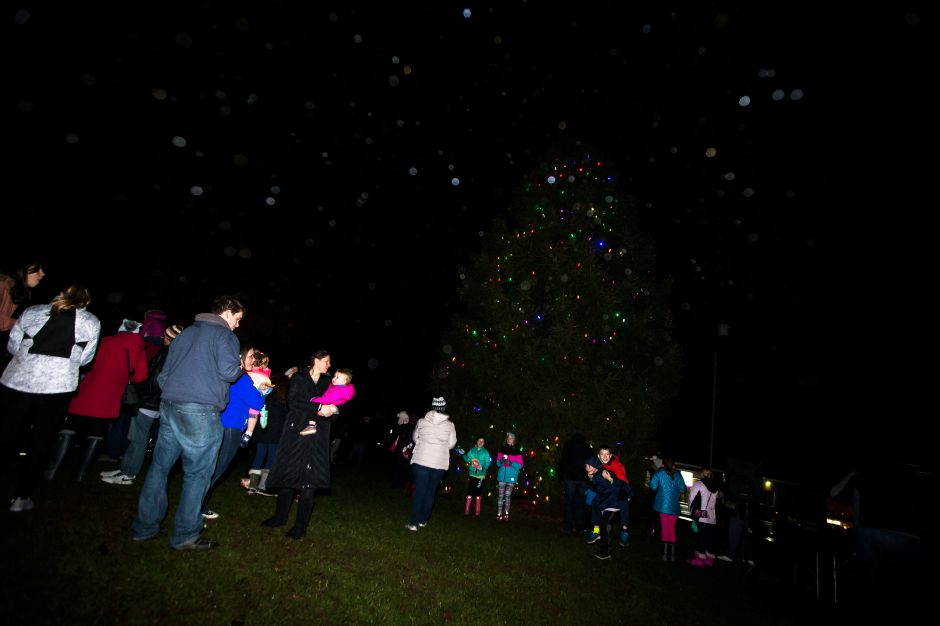Sunday during the annual tree lighting at the First Congregational Church in Cheshire December 2, 2018 | Justin Weekes / Special to the Record-Journal