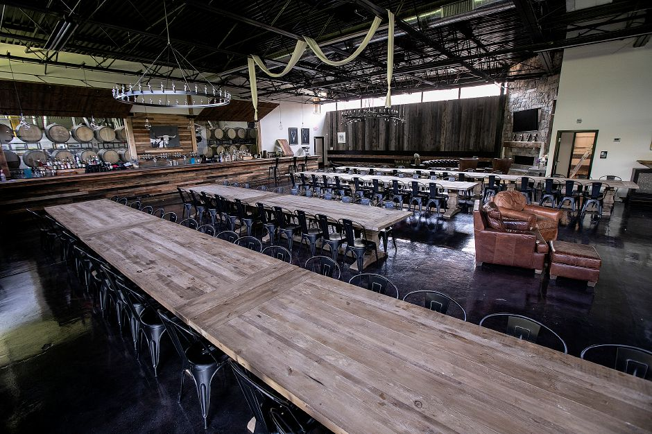 View of Clark Hall at Kinsmen Brewing, a new venue adjacent to the brewery's taproom in the former Clark Brothers Bolt Factory building on Canal Street in Southington Mon., Aug. 5, 2019. Dave Zajac, Record-Journal