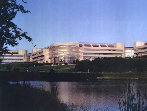Bristol-Myers Squibb campus on Research Parkway in Wallingford.
