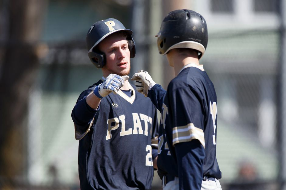 Cameron Germe had two doubles and Andrew McCarty mashed a three-run home run Tuesday in Platt's 14-1 win in Avon. | Justin Weekes / Special to the Record-Journal