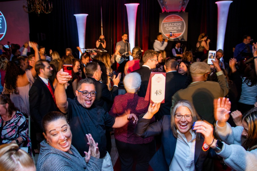 The dance floor was packed at the Aqua Turf Club in Plantsville Wednesday for the Second Annual Record-Journal's Reader Choice Awards. See photos of all the winners  and other photos of the event online at myrecordjournal.com. Aaron Flaum, Record-Journal