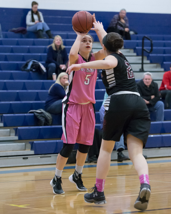 Senior point guard Maggie Meehan (20.7 ppg., 65 3's) leads Southington into tonight