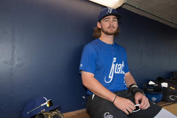 Brendan Rodgers, the No. 1 prospect in the Colorado Rockies' farm system, makes his debut with the Double-A Yard Goats Monday at Dunkin' Donuts Park in Hartford. | Justin Weekes, Special to the Record-Journal