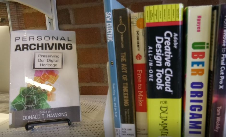 Books displayed in the Collaboratory area of Wallingford Public Library, 200 North Main St., Wallingford. | Ashley Kus, Record-Journal