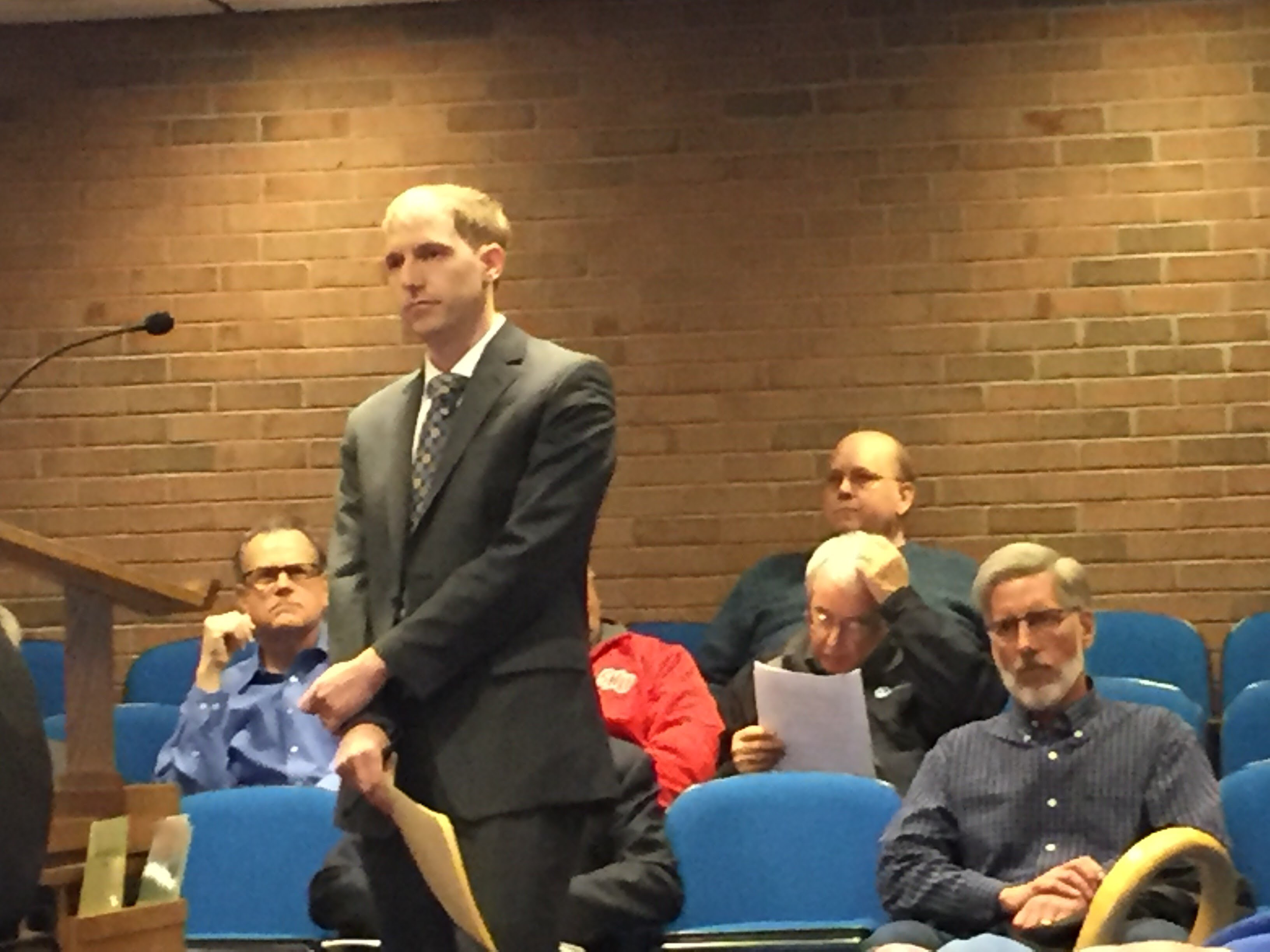 FILE: Tim Malone, CROG, spoke at a recent Town Council meeting. Plainville and Southington study postpones winter meetings to discuss rail options for trail connection. |Ashley Kus, The Plainville Citizen.