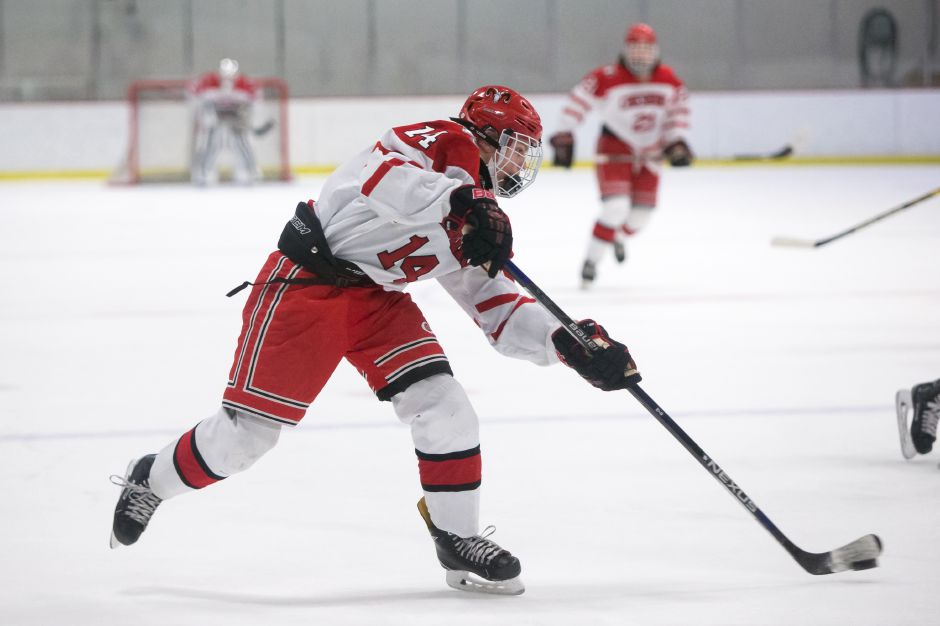 Niklas Vasiljevs scored both goals for Cheshire in Monday's 2-1 win over South Windsor at  Wesleyan. | Justin Weekes / Special to the Record-Journal