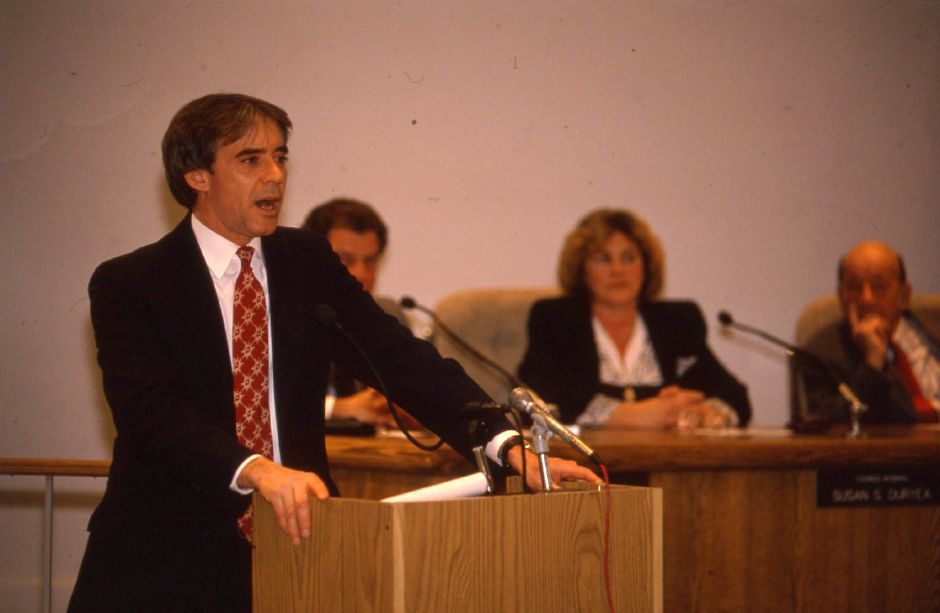 RJ file photo - Republican Mayor William W. Dickinson talks about Wallingford