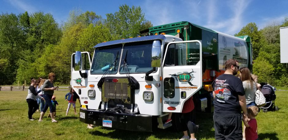 Garbage and recycling truck was featured at the 17th annual Touch-a-Truck event at the Southington Drive-In, at 995 Meriden-Waterbury Turnpike, on Saturday, May 18, 2019. Photos by Jeniece Roman, Record-Journal