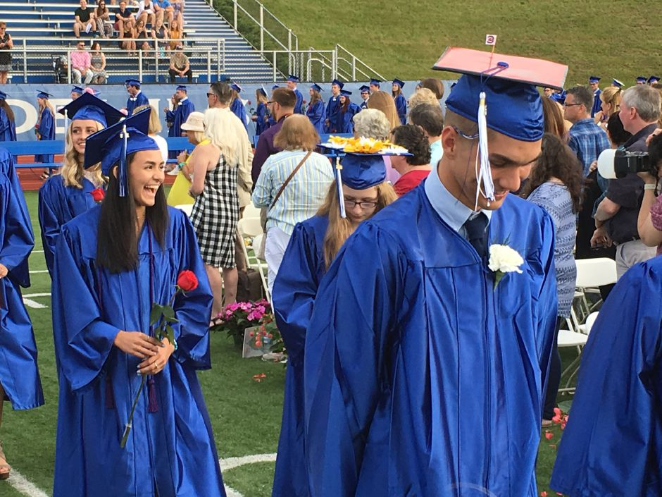 Coginchaug Regional High School graduated 125 students on the Durham campus on Friday, June 22, 2018. | Lauren Takores, Record-Journal