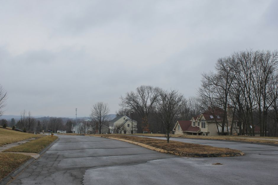 Situated near Durham and with an elevated location, Talcott Ridge Drive was selected by Middletown officials and the Environmental Protection Agency as the best site for a water tank addressing the Durham Meadows issue, but residents have concerns. | Mark Dionne, Town Times