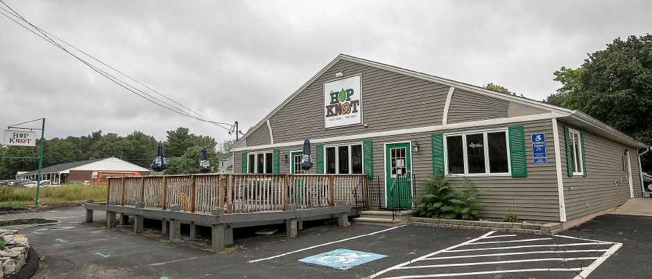 The Hop Knot,  1169 Meriden-Waterbury Turnpike in Southington,   is temporarily closed according to a sign posted on the front door. Dave Zajac, Record-Journal