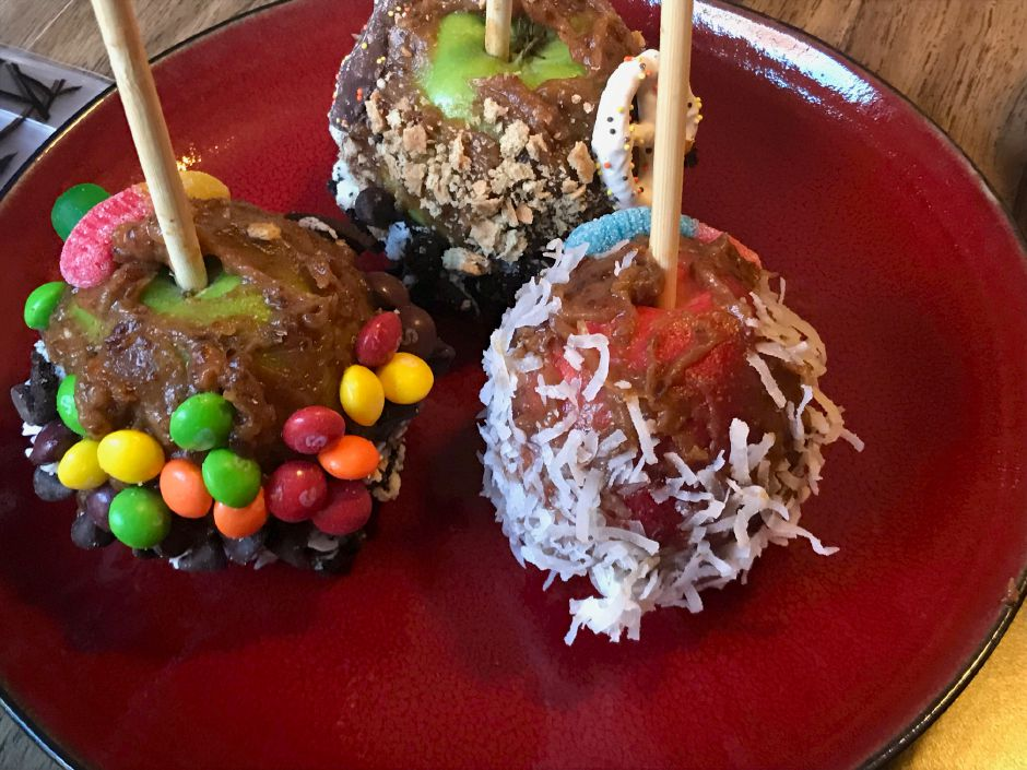 A healthy alternative to traditional candy apples using medjool dates.|Ashley Kus, Record-Journal