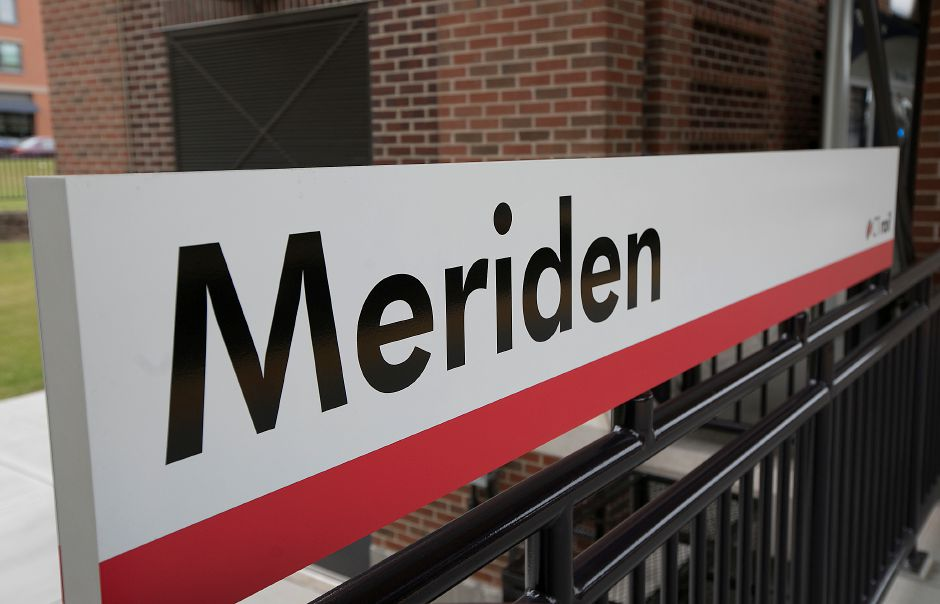 Signage at the Meriden train station, Friday, June 15, 2018. Dave Zajac, Record-Journal