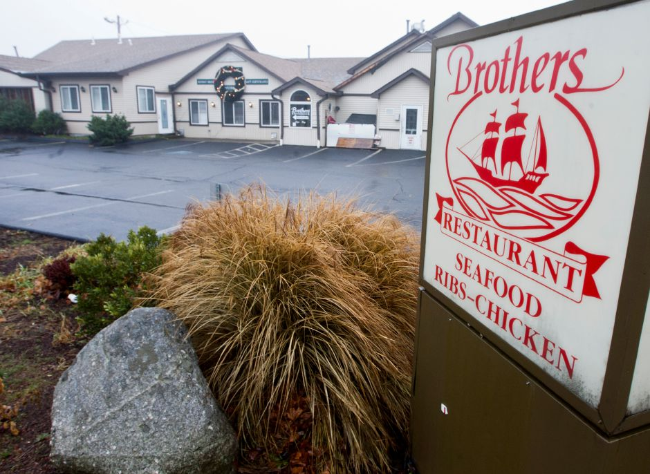 FILE – Brothers Restaurant in downtown Wallingford, Dec. 10, 2012. (Christopher Zajac / Record-Journal)