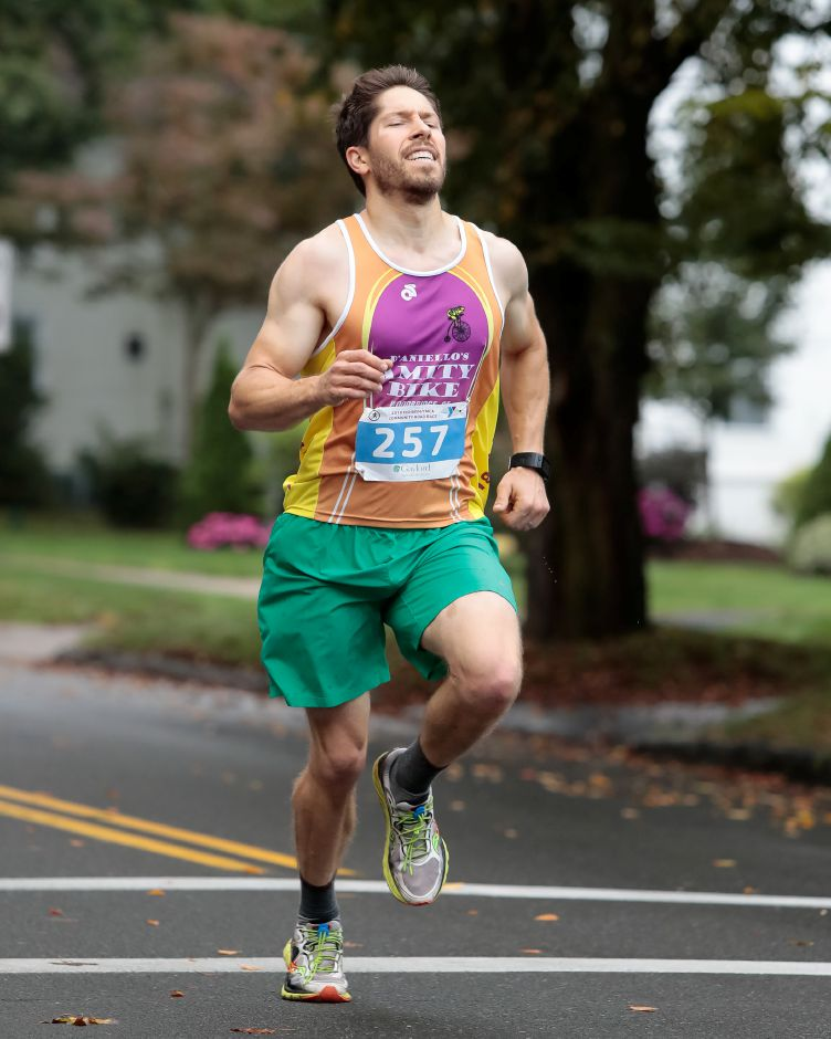 Tim Gervais of Cheshire won the 5K portion of Sunday's Fishbein/YMCA Community Road Race in Wallingford. | Justin Weekes / Special to the Record-Journal