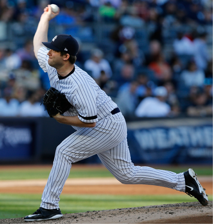 e5f9b44c1 New York Yankees relief pitcher Adam Warren winds up during the sixth  inning of a baseball