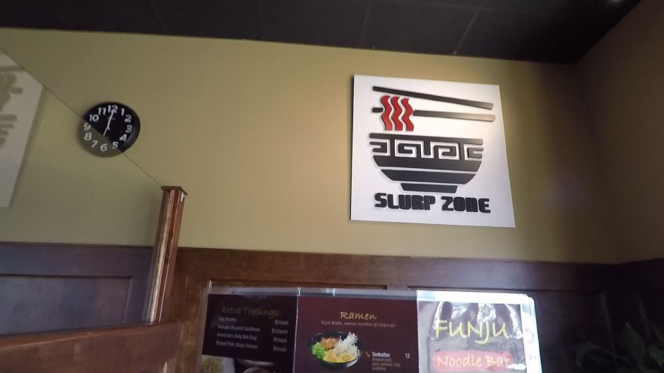 "The ""Slurp Zone"" at FunJu Noodle Bar, 20 Ives Rd., Wallingford. 