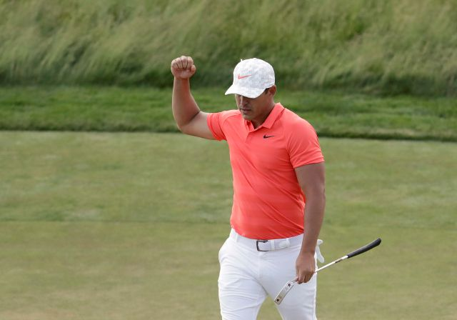 Brooks Koepka birdied four of his first five holes in the opening round of the Travelers Championship on Thursday only to bogey four of his last seven. The two-time U.S. Open champ sits at 2-under heading into Friday's second round at TPC River Highlands. (AP Photo/Julio Cortez)