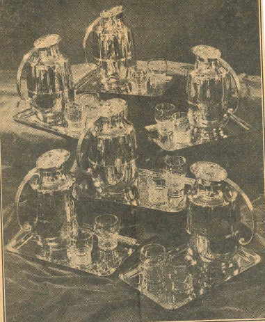 A showroom display of Manning Bowman vacuum jug sets, of the type supplied for the executive offices at the White House. | Record-Journal archives