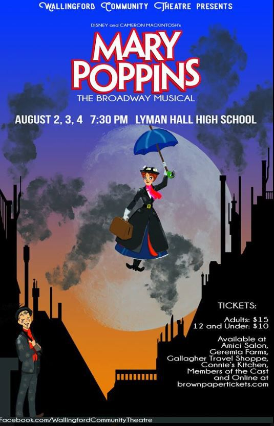 The promotional flyer for the Mary Poppins musical