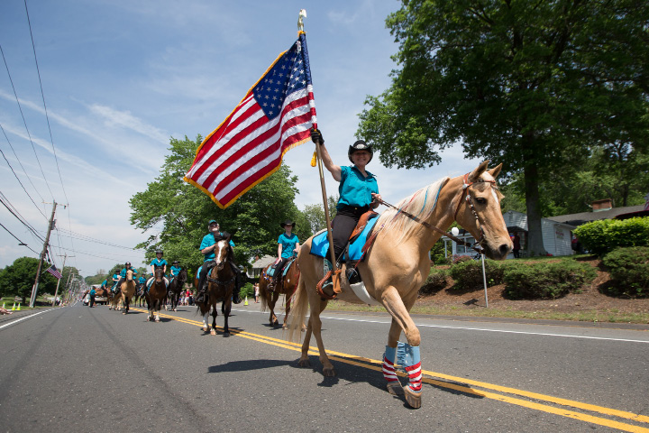 Cheshire Horse Council Sunday during the Memorial Day Parade in Cheshire  Aug. 15, 2014 | Justin Weekes / For the Record-Journal