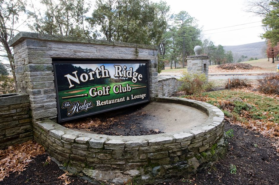 A view of the entrance to North Ridge Golf Club in Southington on Jan. 19, 2017. Record-Journal file photo