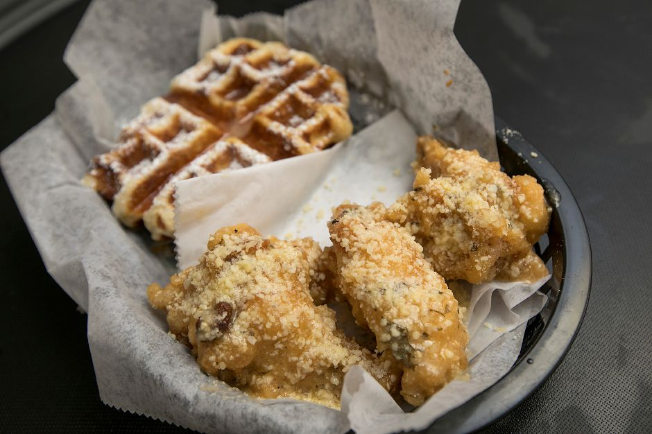 Wing and Waffle available at the new Cheek