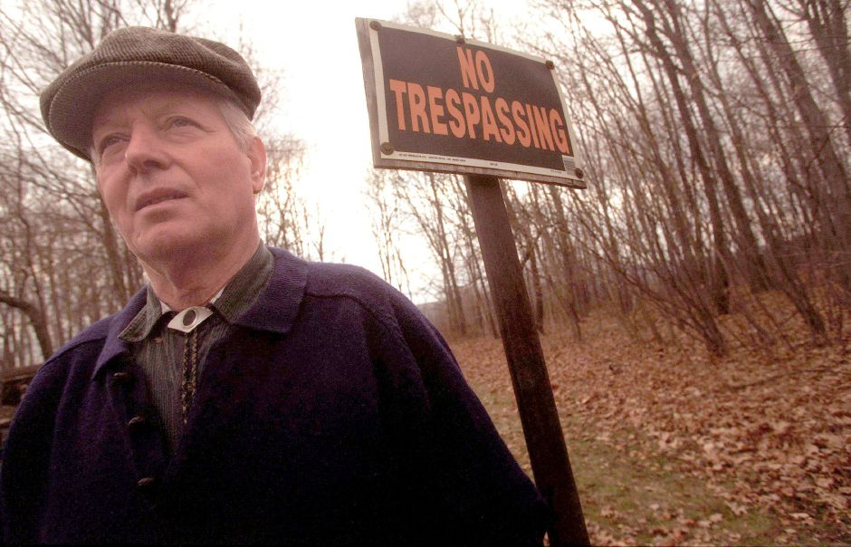 Ilio Fusciello of Autran Avenue in Southington seen in a file photo from March 30, 2000. Fusciello has been fighting with the town for years over access to portions of his property. Police were called to the Municipal Center Monday after Fusciello refused to relinquish the podium during public comment. He left the building with officers and was not charged.