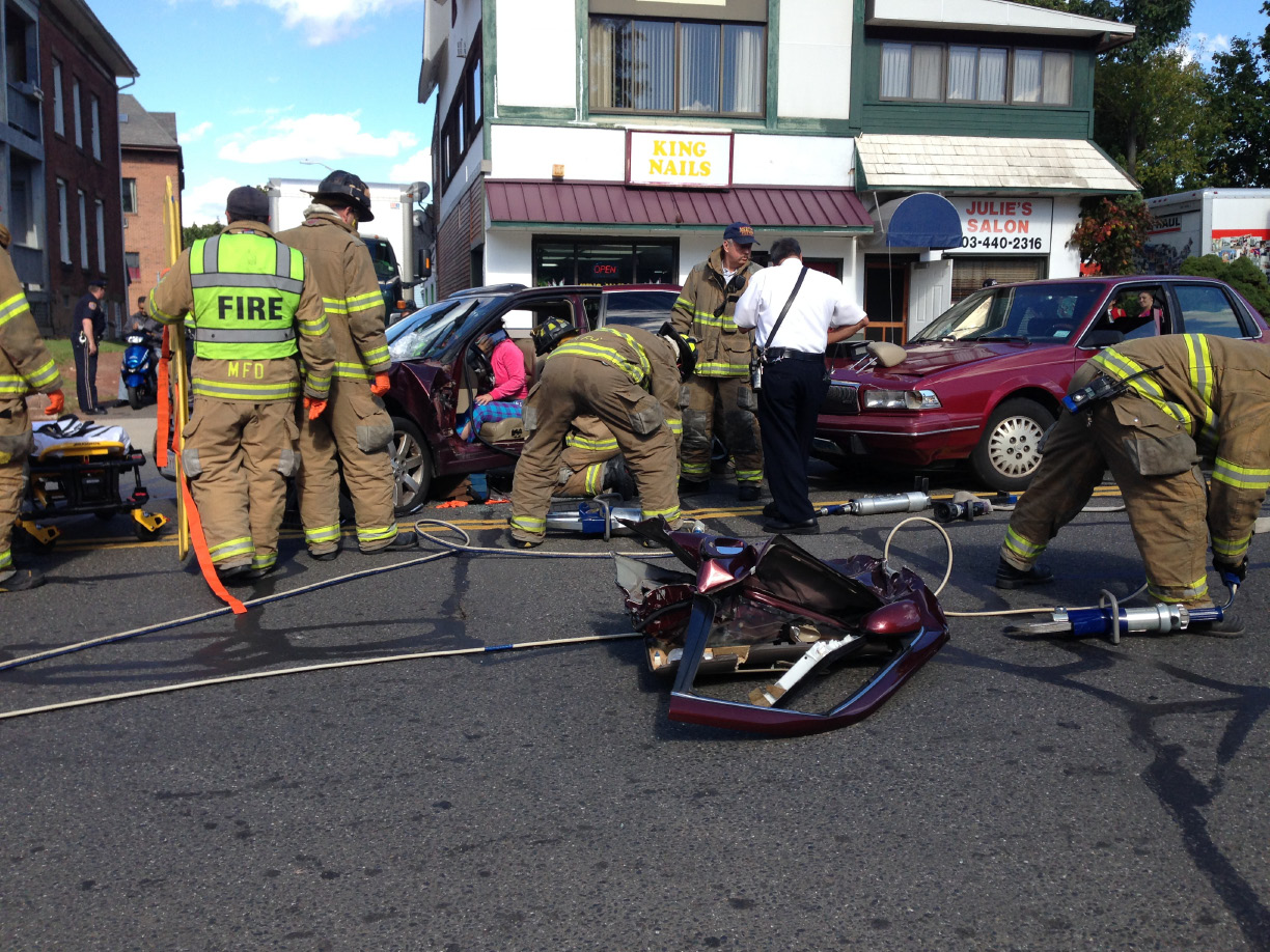 MERIDEN — An accident requiring extrication occurred in