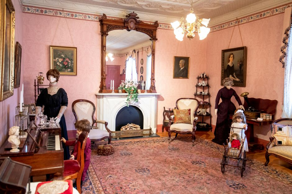 The Victorian exhibit at the Plainville Historical Center. Tours of the center can be taken as it celebrates its 50th anniversary. | Devin Leith-Yessian/Plainville Citizen