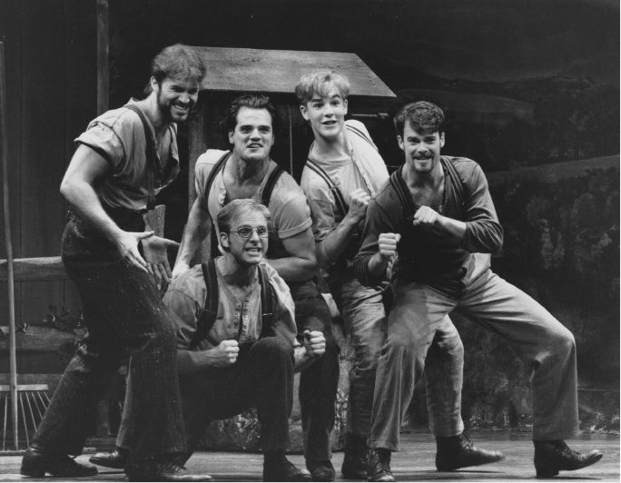 James Van Der Beek, middle right, as a part of the production Shenandoah at the Goodspeed Oprea House in 1994. | Record-Journal file photo