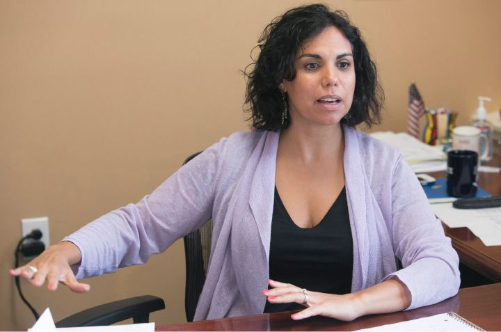 Maria Campos-Harlow, executive director of Spanish Community of Wallingford, talks about expansion and funding for the agency, Monday, August 7, 2017. | Dave Zajac, Record-Journal