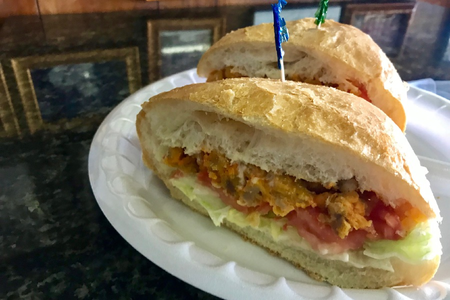 Alligator sandwiches are special this time of year at Vinny