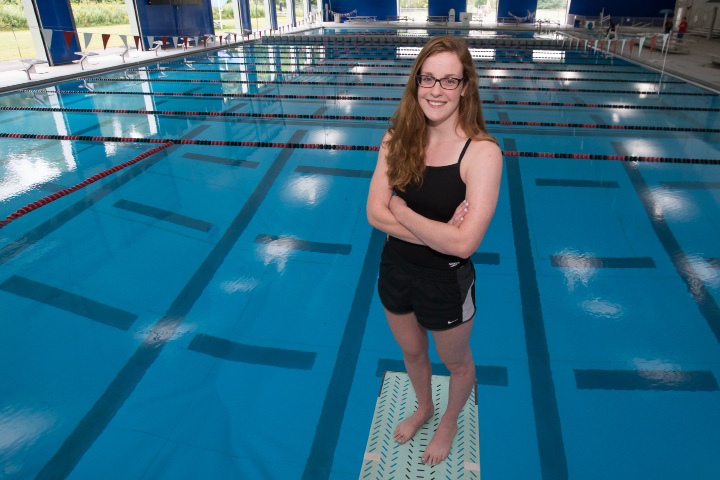 Cheshire's Elizabeth Boyer rules the pool in Ram Land Wednesday at Cheshire Community Pool. | Justin Weekes, Special to the Record-Journal
