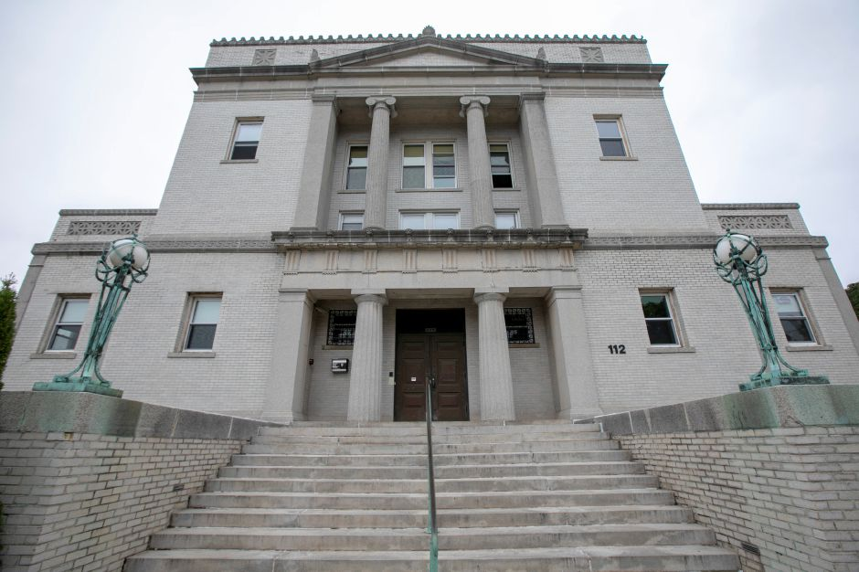 The former Masonic Temple on East Main Street in Meriden, Monday, Oct. 8, 2018. The Tien Yuen Foundation Inc., founded in Queens, New York, bought the neo-classical building at 112-116 E. Main St. for $425,000 earlier this year to house their Buddhist temple. Dave Zajac, Record-Journal
