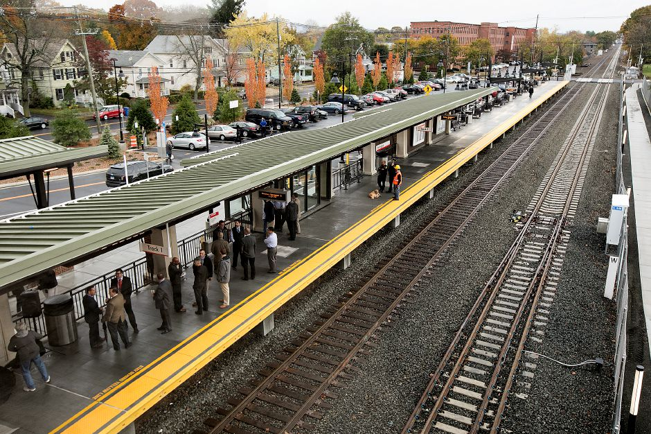 A view from the bridge of the new Wallingford train station after its official opening, Monday, Nov. 6, 2017. | Dave Zajac, Record-Journal
