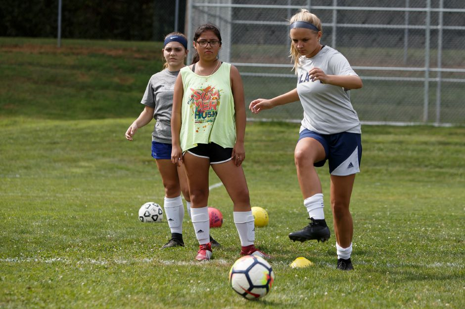 Two-time All-Record-Journal player Elizabeth Garlock will move up from center back to center midfielder in her senior season with the Platt Panthers. Justin Weekes, Special to the Record-Journal