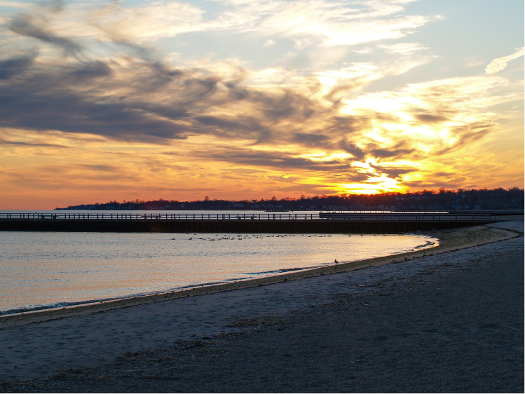 Sunset as seen from the beach in West Haven. | Richie Rathsack / Record-Journal