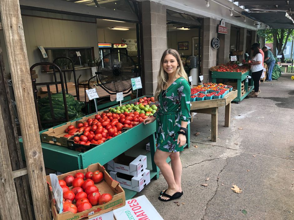 Kristen Dearborn checks out seasonal produce at Geremia Farms on Barnes Road in Wallingford. | Kristen Dearborn, Special to the Record-Journal