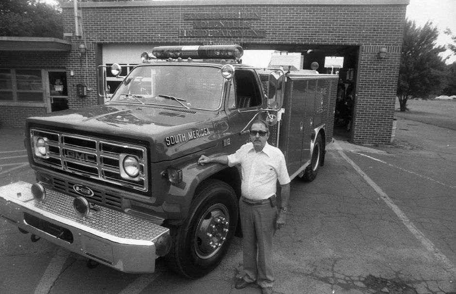RJ file photo -Robert Keene, chief of the South Meriden Fire Department, with the department