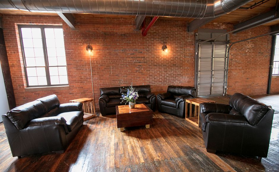 Lounge area of Witchdoctor Brewing Company, a new business in Factory Square on Center Street in Southington, Wednesday, April 26, 2017. | Dave Zajac, Record-Journal