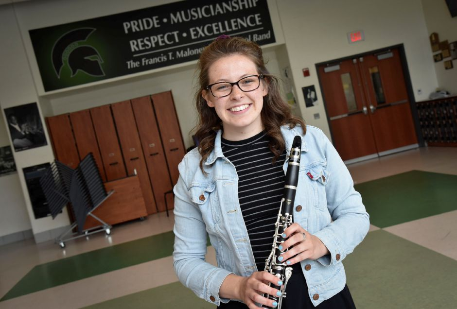 Bryanne Pappas is Maloney High School's class of 2018 valedictorian.Bailey Wright, Record-Journal