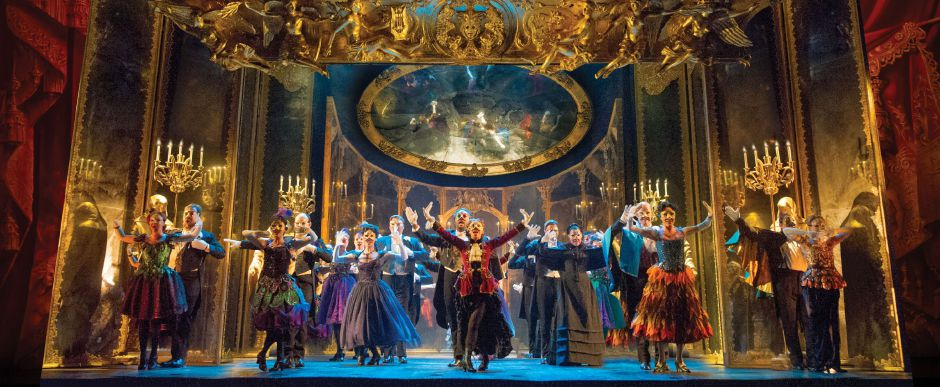 "The Company performs ""Masquerade."" Original Tour Cast of ""The Phantom of the Opera."" Photo: Alastair Muir"